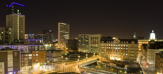 Birmingham City At Night