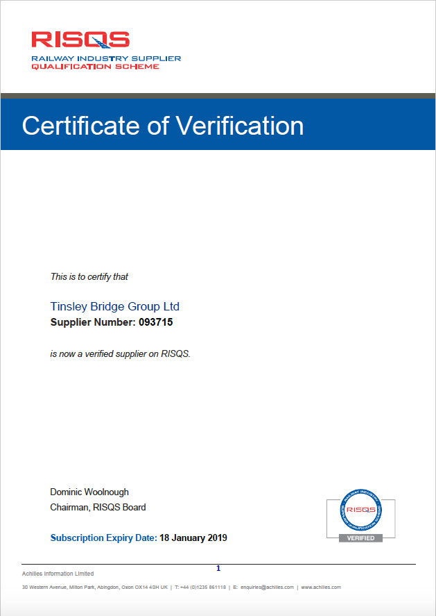 Community Certificate 2018