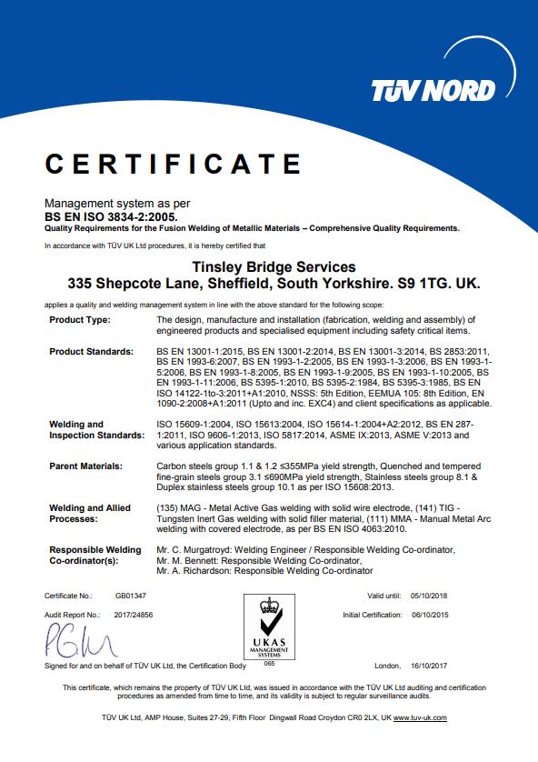 Certificate 171012 3834 screenshot